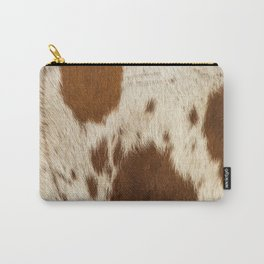 Pattern of a Longhorn bull cowhide. Carry-All Pouch