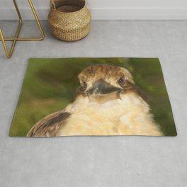 Painted laughing kookaburra Rug
