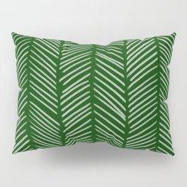 Forest Green Herringbone Pillow Sham