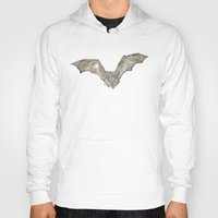 bat Hoodies featuring Bat by Arts and Herbs