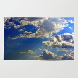 crepuscular rays Rug