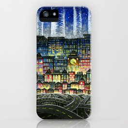Crowded Haunts iPhone Case