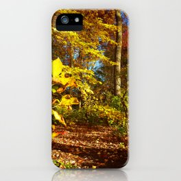 Fall's Golden Moments, an October vignette iPhone Case