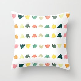 Boho Modern Petals Throw Pillow