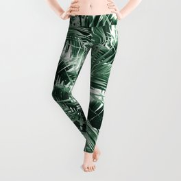 Tropical Palm Leaf Jungle #1 #tropical #decor #art #society6 Leggings