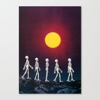 walking dead Canvas Prints featuring Walking Dead by AlyssaMichelle