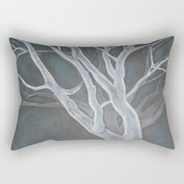 White Tree Rectangular Pillow
