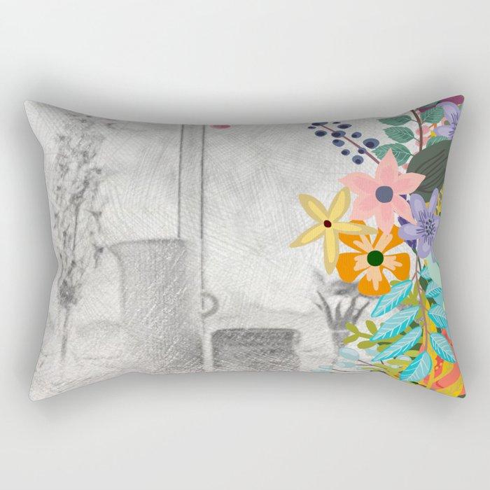 Flowers bouquet #12 Rectangular Pillow