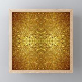 Deep gold glass mosaic Framed Mini Art Print