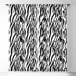 Black and White Zebra fish Blackout Curtain
