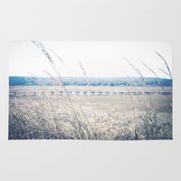 cape cod Area & Throw Rugs featuring Cape Cod Boardwalk by ELIZABETH THOMAS Photography of Cape Cod