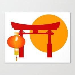 Tori Gate Icon Canvas Print
