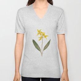 Glacier Lily - Yellow Mountain Wildflower Unisex V-Neck