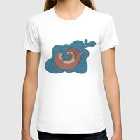otters T-shirts featuring Underwater Otters by Amarie