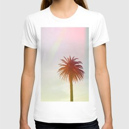 Tropical, Palm, Nature, Pink, Scandinavian, Minimal, Modern, Wall art T-shirt