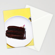CAKE - PLATE - DIET - DESSERT - FOOD - PHOTOGRAPHY Stationery Cards