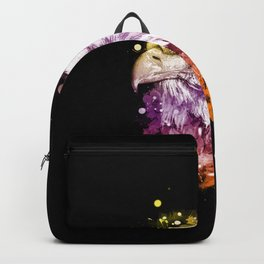 Awesome eagle with flowers Backpack