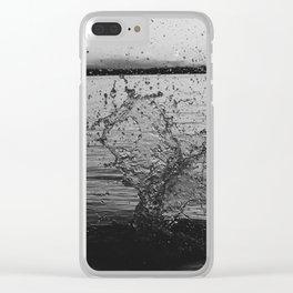 Waco Splash B&W Clear iPhone Case