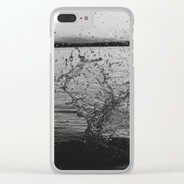 Waco Splash B&W Clear iPhone Case