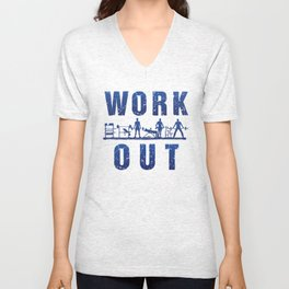 Work Out Unisex V-Neck