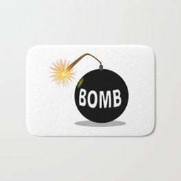 Cartoon Bomb Bath Mat
