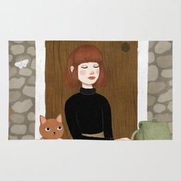 cats & coffee Rug