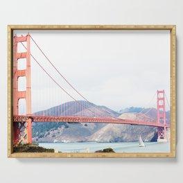 San Francisco Golden Gate Bridge California Photography Serving Tray