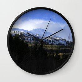 Snow Top Wall Clock