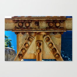 Metal Bridge Closeup Canvas Print