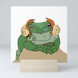 Toad DJ Snails Mini Art Print