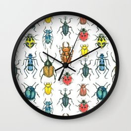 Beetles Wall Clock