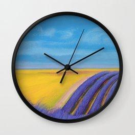 LAVENDER FIELD of SANTA YNEZ Wall Clock