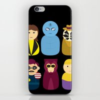 watchmen iPhone & iPod Skins featuring Watchmen by PinkRadish