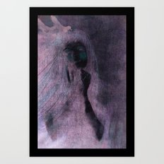 The Girl With Ravens In Her Hair Art Print