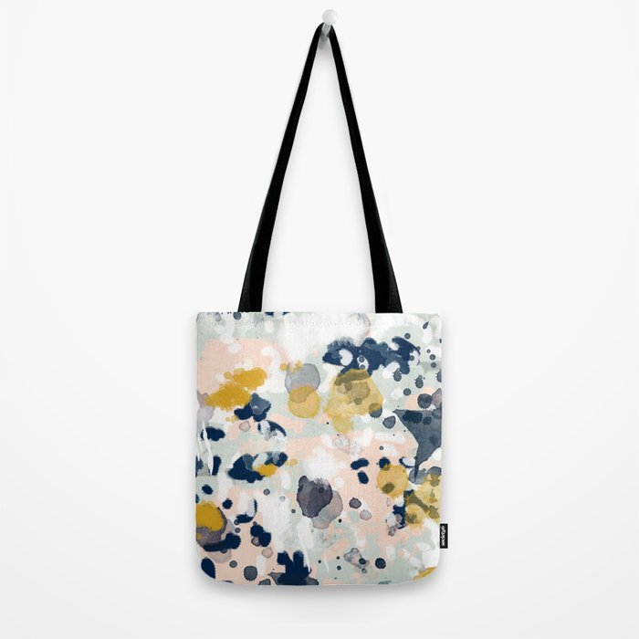 Esther - abstract minimal gold navy painting home decor minimalist hipster art Tote Bag