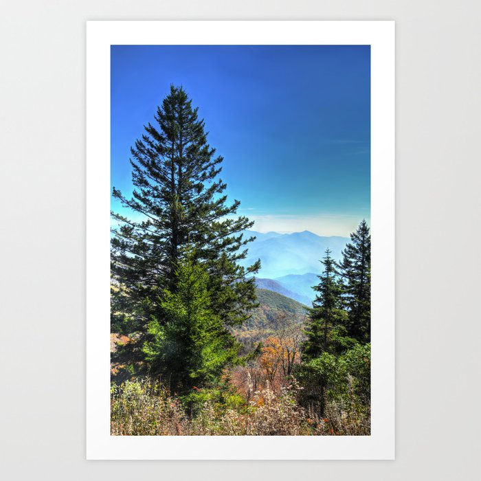 Blue Ridge Mountains North Carolina Art Print
