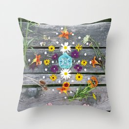 Dock Mandalla Throw Pillow