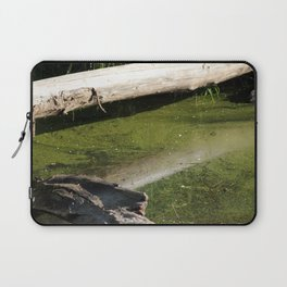find the hidden frogs, Trojan pond, near Goble, Oregon Laptop Sleeve
