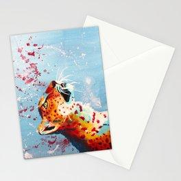 Curiosity, leopard acrylic painting, original animal art Stationery Cards