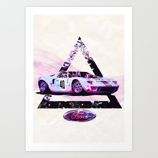 Ford Gt40// Le Mans Race Cars Art Print