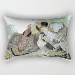 Ruffed Grouse - John James Audubon Rectangular Pillow