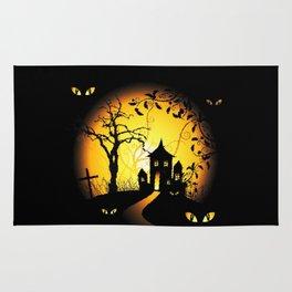 Halloween Castle Nightmare Rug
