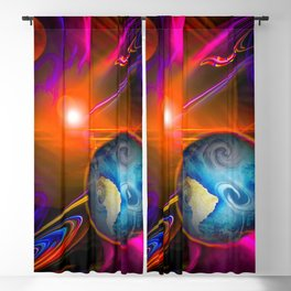 Full moon - Fascination Blood moon - Abstract Blackout Curtain