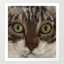 Cat Closer Art Print