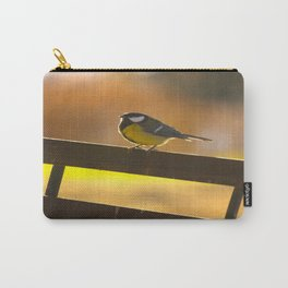 Great Tit On A Chair Carry-All Pouch