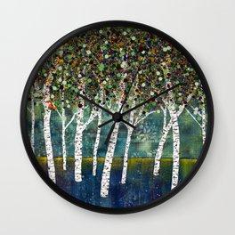 Evening Aspens Wall Clock