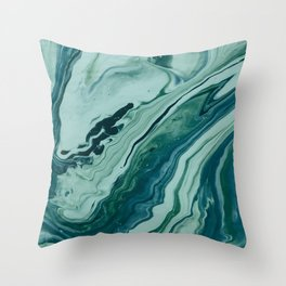Blue Planet Marble Throw Pillow