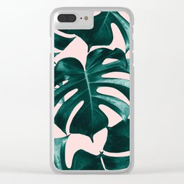 Tropical Monstera Leaves Dream #1 #tropical #decor #art #society6 Clear iPhone Case
