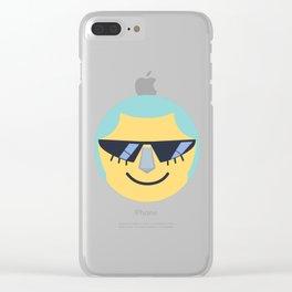 Franky Emoji Design Clear iPhone Case