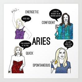 Aries- Bravostrology Series Art Print